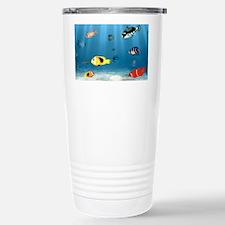 Oceans Of Fish Stainless Steel Travel Mug