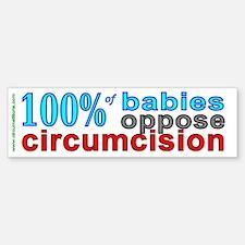 """""""100% of babies"""" bumpersticker"""