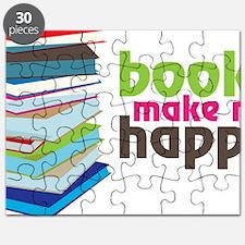 Books Make Me Happy Puzzle