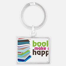 Books Make Me Happy Landscape Keychain