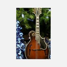 Gibson Mandolin Blue Christmas Rectangle Magnet