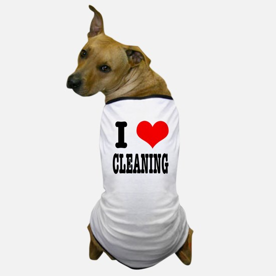 I Heart (Love) Cleaning Dog T-Shirt
