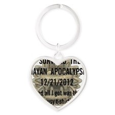 mayanapocalypse Heart Keychain