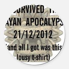 Mayan apocalypse Round Car Magnet