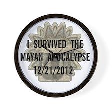Mayan apocalypse Wall Clock