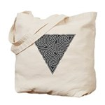 Charcoal Triangle Knot Tote Bag