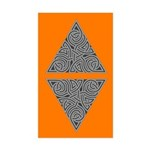 Charcoal Triangle Knot Rectangle Sticker