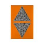 Charcoal Triangle Knot Rectangle Magnet (100 pack)