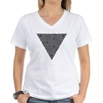 Charcoal Triangle Knot Women's V-Neck T-Shirt