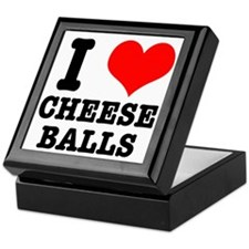 I Heart (Love) Cheese Balls Keepsake Box