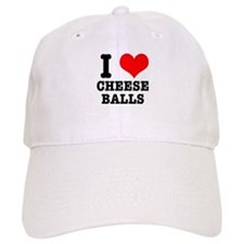 I Heart (Love) Cheese Balls Baseball Cap