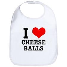 I Heart (Love) Cheese Balls Bib