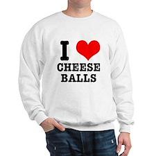 I Heart (Love) Cheese Balls Sweatshirt