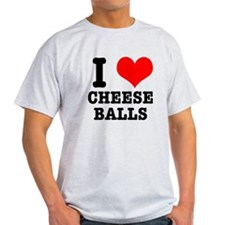 I Heart (Love) Cheese Balls T-Shirt