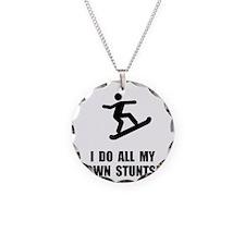 Do Snowboard Stunts Necklace