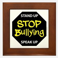stop bullying Framed Tile
