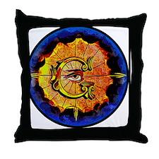 Masonic Eye on Blue Throw Pillow