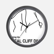 Fiscal Cliff Diving Wall Clock