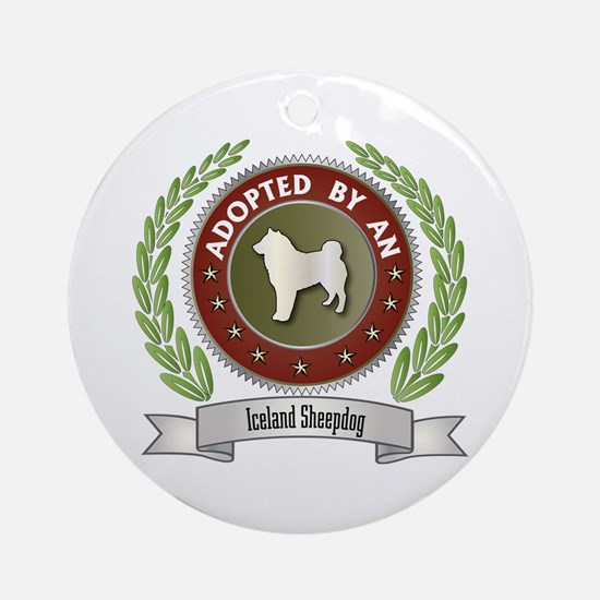 Sheepdog Adopted Ornament (Round)
