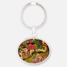 Crazy Quilters Oval Keychain