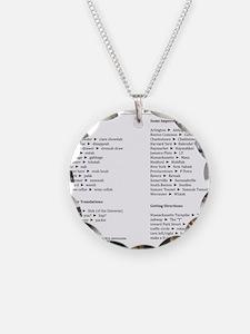 Boston-English Dictionary Necklace