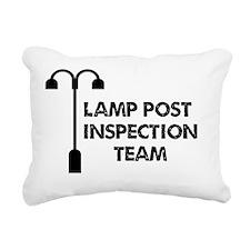 Lamp Post Inspection Tea Rectangular Canvas Pillow