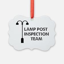 Lamp Post Inspection Team Ornament