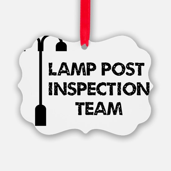 Lamp Post Inspection Team Ornament