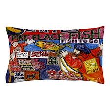 Seattle Fish Market Pillow Case