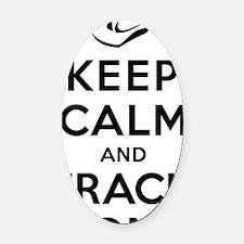 Keep Calm and Frack On Oval Car Magnet