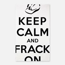 Keep Calm and Frack On 3'x5' Area Rug