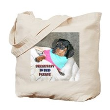 Breakfast In Bed Doxie Dog Tote Bag