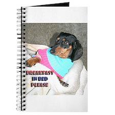 Breakfast In Bed Doxie Dog Journal