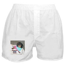 Breakfast In Bed Doxie Dog Boxer Shorts