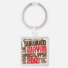 I Survived the Mayan Apocalypse 20 Square Keychain