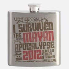 I Survived the Mayan Apocalypse 2012 Flask