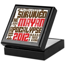 I Survived the Mayan Apocalypse 2012 Keepsake Box