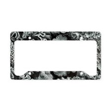 Botanical Coral License Plate Holder