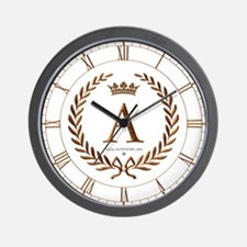 Napoleon initial letter A monogram Wall Clock