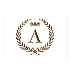 Napoleon initial letter A monogram Postcards (Pack