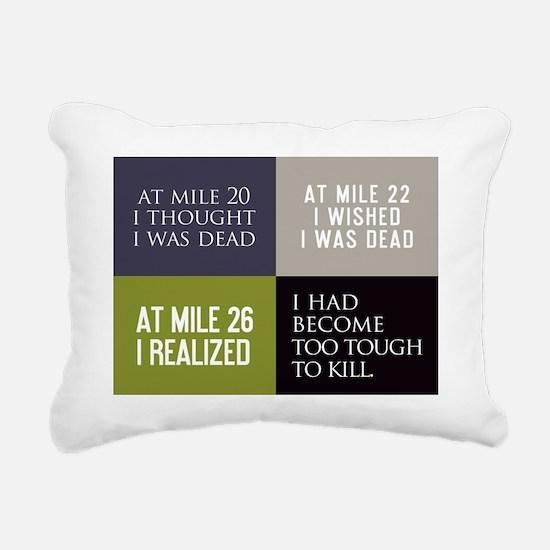card at mile 20 Rectangular Canvas Pillow