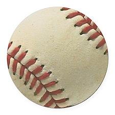 Baseball Round Car Magnet
