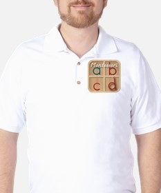 Mobile Montessori - Movable Alphabet ic Golf Shirt