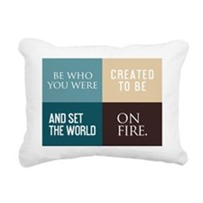 card be who you were cre Rectangular Canvas Pillow