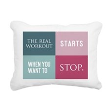 card the real workout st Rectangular Canvas Pillow