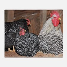 chickens on a roost Throw Blanket
