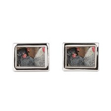chickens on a roost Cufflinks