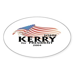 John Kerry American Flag Sticker