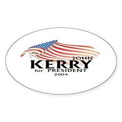 John Kerry American Flag Decal