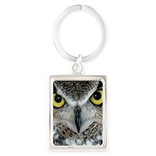 owl_eyes Portrait Keychain